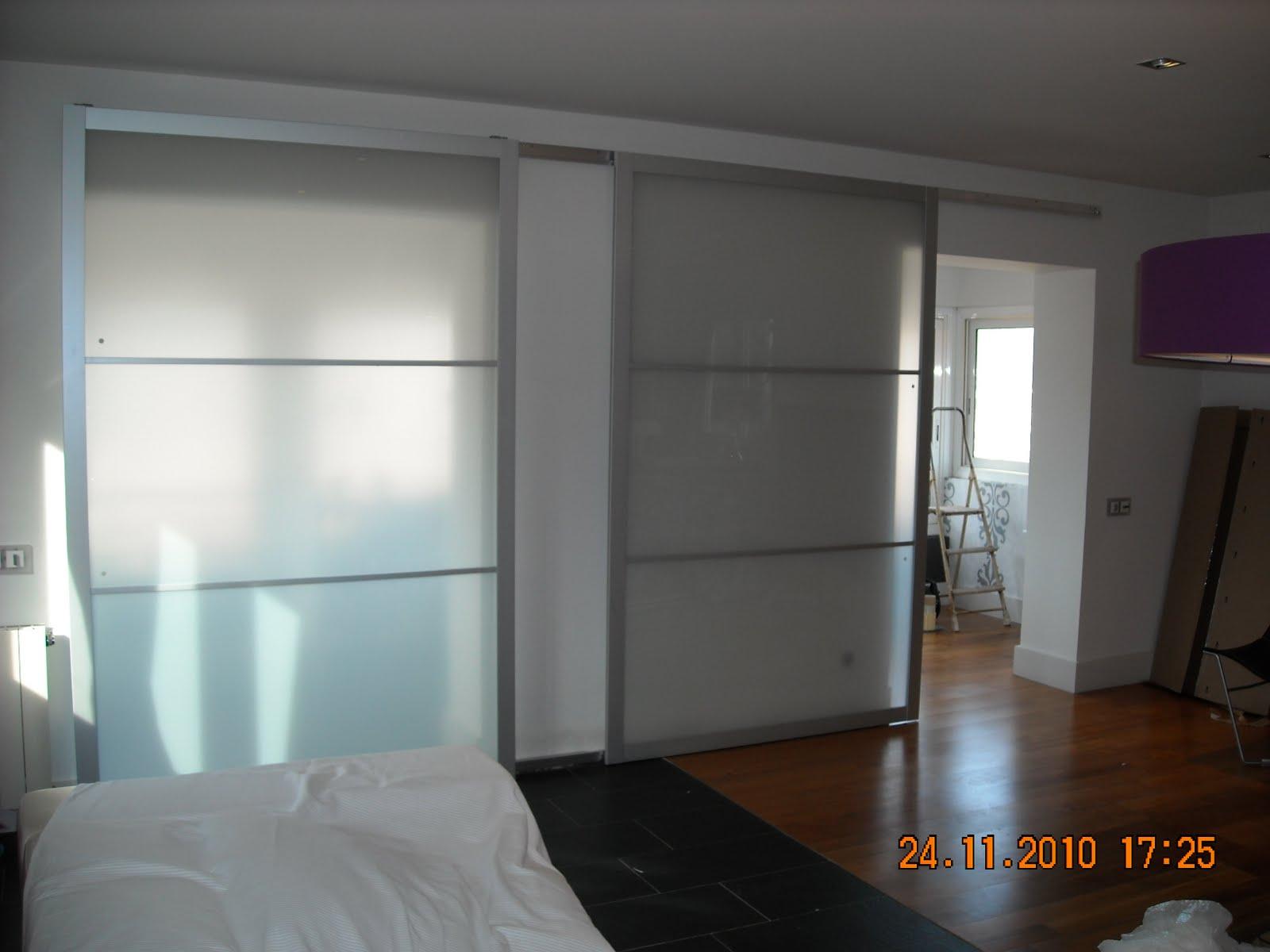 Bricolatge a domicili puerta corredera ikea lyngdal for Puertas correderas de cristal para armarios