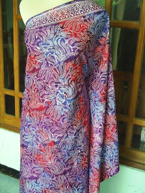 Kain batik Motif Padi berbahan Primisma halus dengan warna semok ...