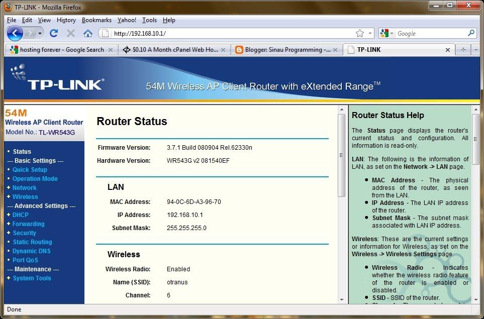 Setting Password Pada Wireless Router Merk Tp Link Tl Wr543g Sunarto S Kom