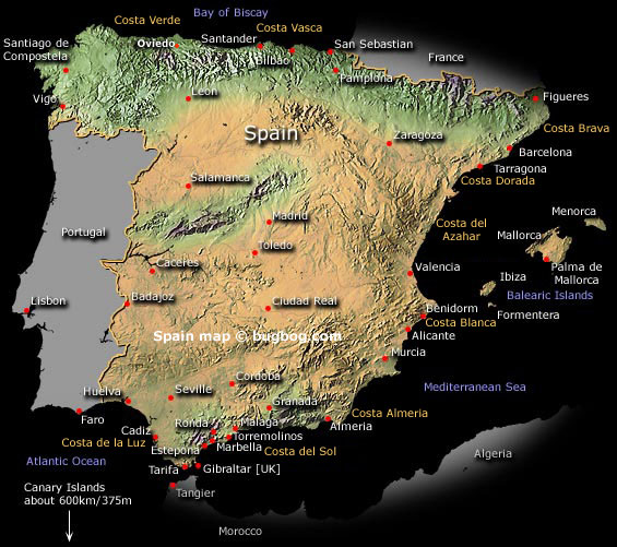 blank maps of spain. of the lank map of spain