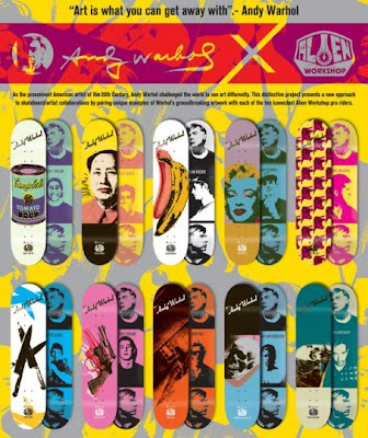 Andy Warhol Alien Workshop Collaboration Skateboard Decks