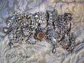 Vintage Bling Charm Bracelet