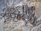 Vintage Bling Charm Bracelet