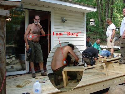 click here for Full Size image of one of my first days on the pod — when we were building the deck that Quest made