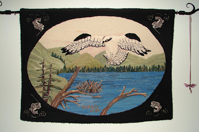 click here for Full Size image of Jean Audrey Pammett's Snow Osprey hooking masterpiece from 1981