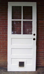 Entry door with cat door 32 x 79""