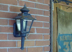 "18"" tall solid brass sconce"