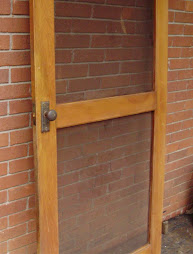 Heart pine screen door 32 x 80