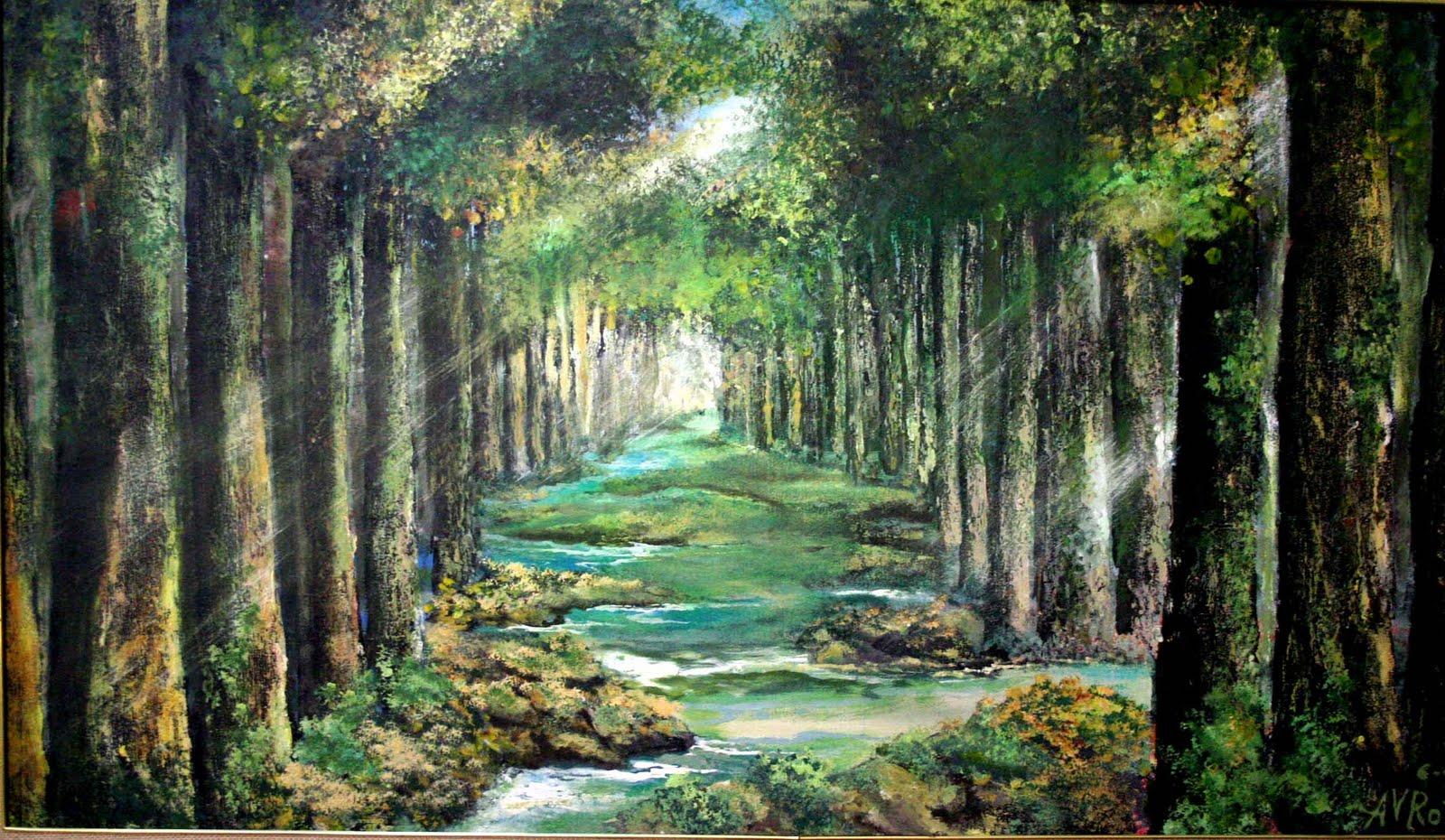 Famous Forest Paintings Light in the forest (2010)Famous Forest Paintings