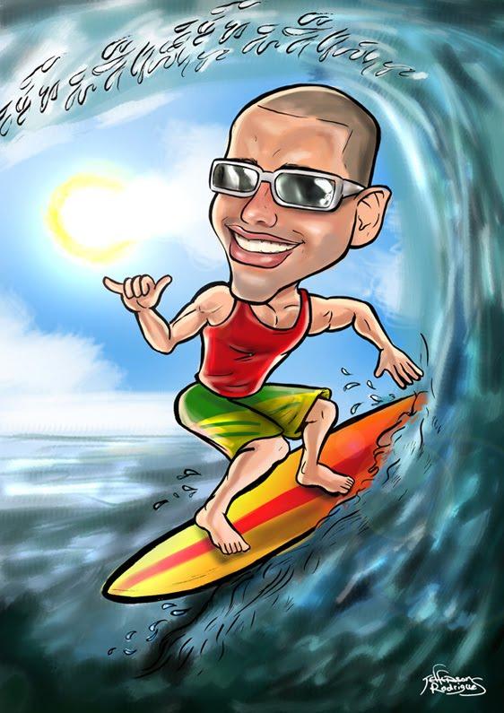 Jeff caricaturas: Caricatura para presente