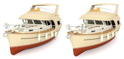 jacht Ramona 37: 3D cross view, obrazy 3D