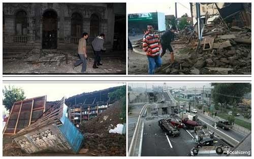 Foto Gempa Chili