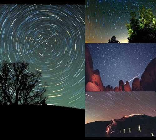ilustrasi Hujan meteor Lyrids Di Indonesia 2010