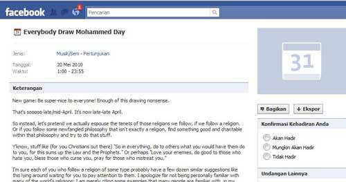 facebook lomba karikatur nabi muhamad foto
