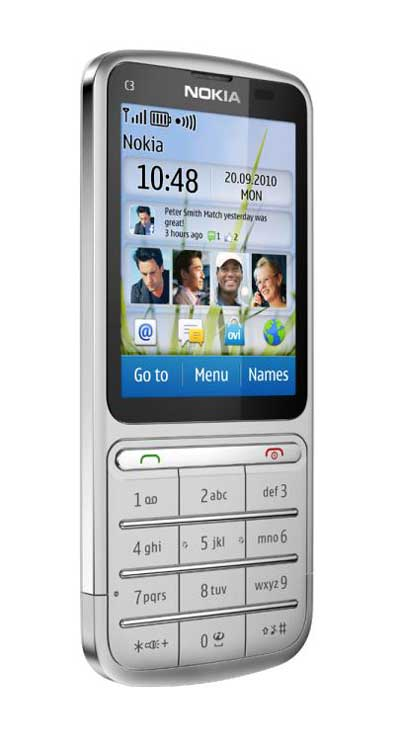 spesifikasi Nokia C3 Touch and Type - Nokia C3 Touchscreen