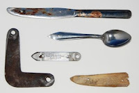 Shanks. Contraband prison weapons, ca. 1960-1980. 2007.70. Collection of the NLEM, Washington, D.C.