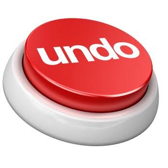 undo button stray click corrected timer 5 minutes undo button