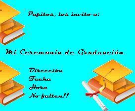 Targetas de invitacion de graduacion.