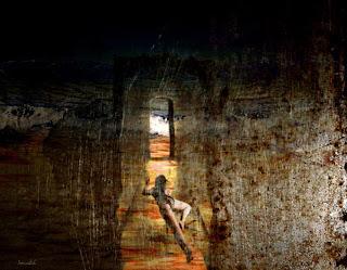 اللوحة للشاعرة والتشكيلية اللبنانية سمر دياب