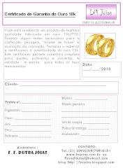 Garantia e certificado de autenticidade