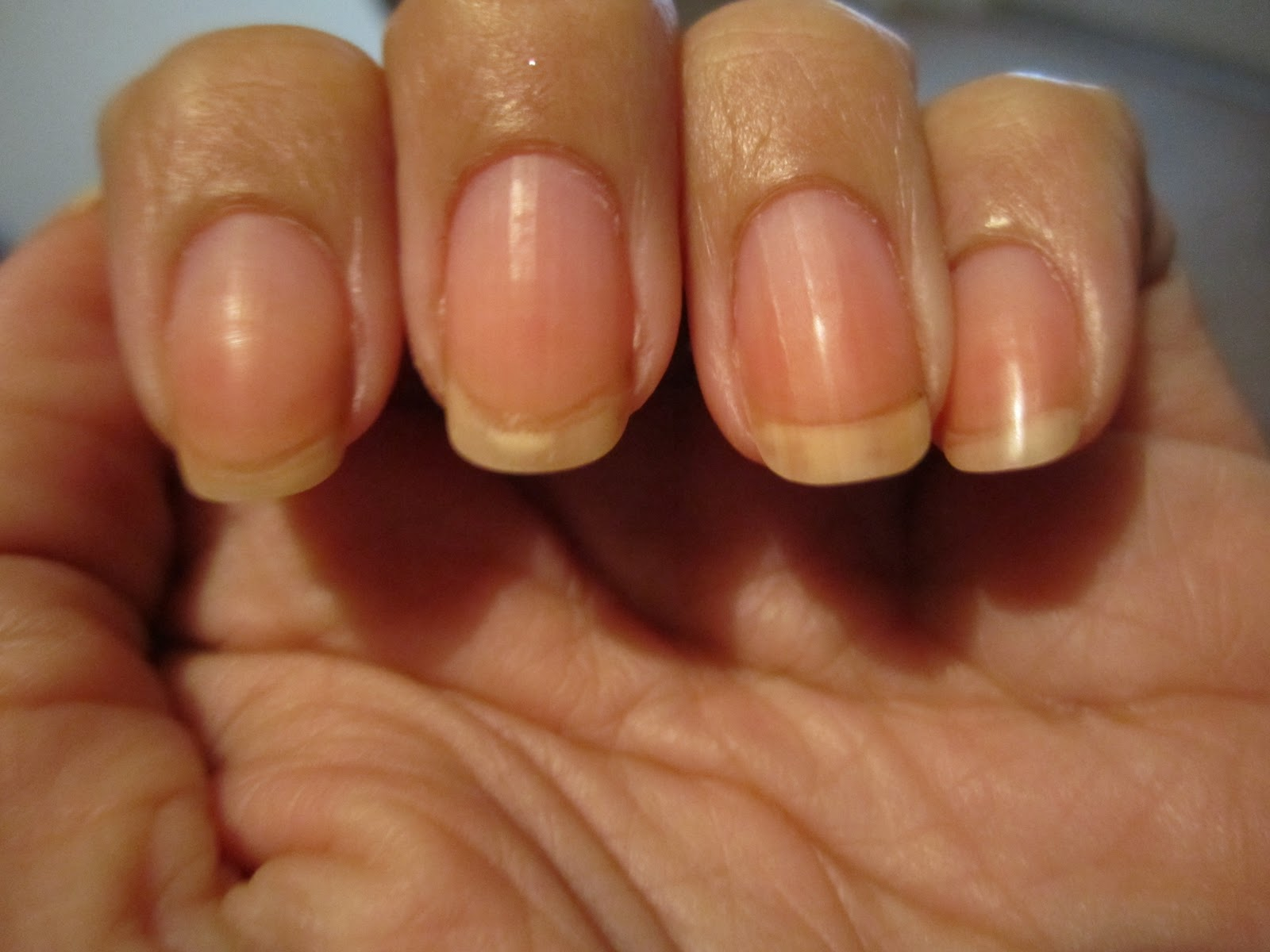 white nail beds with pink tips images