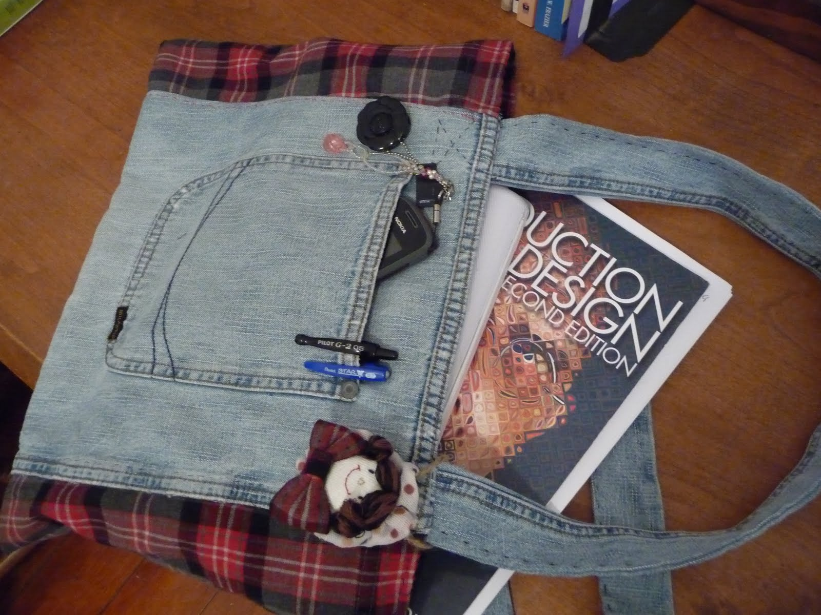 Julie The Koala Craft Making A Book Bag Using Old Clothes