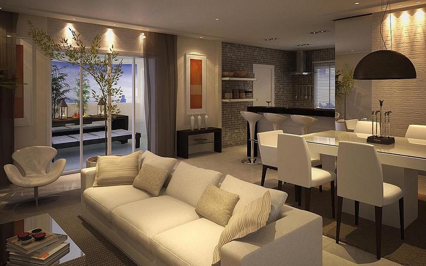 Sala De Tv E Sala De Jantar Juntas ~  For another image for decoração de cozinha e sala juntas pequenas