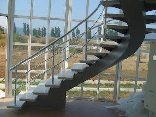 merdiven çeşitleri - tek omurgalı merdiven