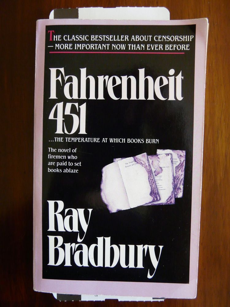 fahrenheit 451 by ray bradbury Fahrenheit 451 is a dystopian novel by american writer ray bradbury, published in 1953it is regarded as one of his best works the novel presents a future american society where books are outlawed and firemen burn any that are found.