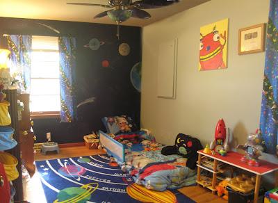 gf design environmental design spacerobot themed kids room
