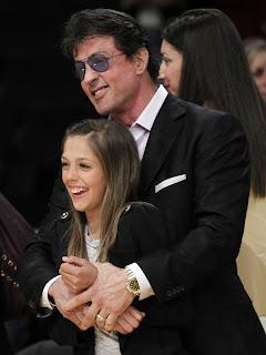 Stallone com a filha
