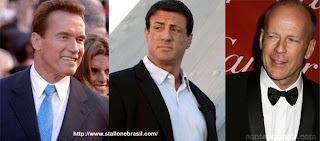 Schwarzenegger, Stallone e Bruce Willis
