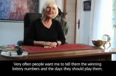 Maria Duval talking about lottery