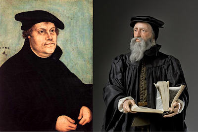 John Calvin vs. Martin Luther