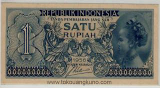 uang kuno, Indonesia,uang, koleksi,Rp, Uang Kuno,koin, mata uang, Seri,kertas, seri, Koleksi, Museum, harga,1 Rupiah Suku Bangsa Sold