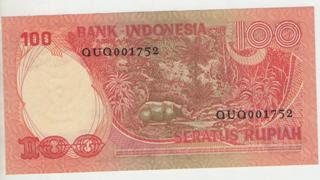 uang kuno, Indonesia,uang, koleksi,Rp, Uang Kuno,koin, mata uang, Seri,kertas, seri, Koleksi, Museum, harga, 100 Rupiah Badak
