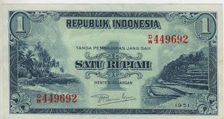 uang kuno, Indonesia,uang, koleksi,Rp, Uang Kuno,koin, mata uang, Seri,kertas, seri, Koleksi, Museum, harga,1 Rupiah Pemandangan Alam