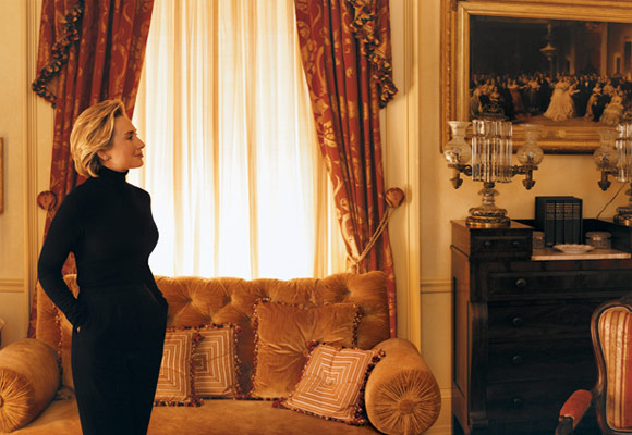 hillary clinton younger days. Mrs. Clinton in the Lincoln