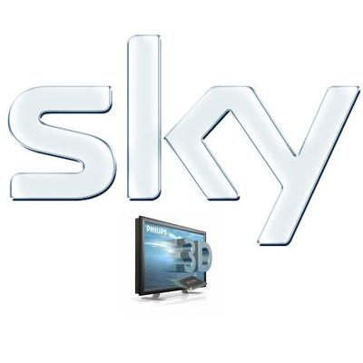 broadcasting shows, movies and sport events in 3D. And Sky is going to