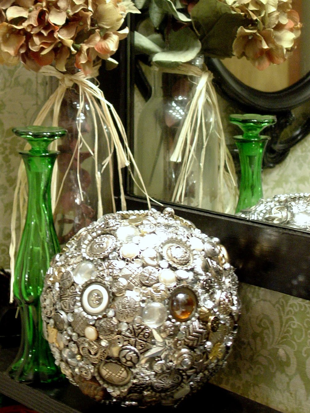 Make the best of things silver button blingy decor ball for Decor 9 iball