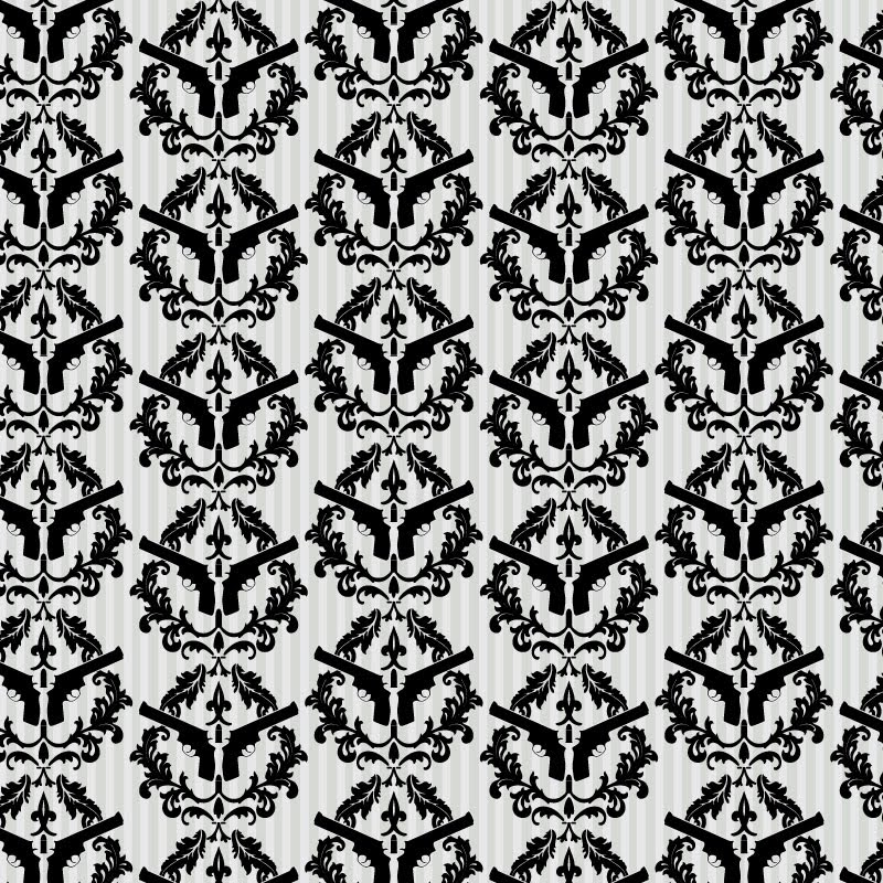 baroque wallpaper. Newspaper Damask Wallpaper