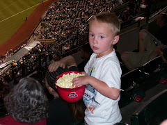 Jayden eating his popcorn