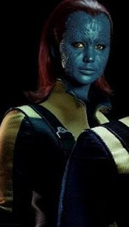 Jennifer Lawrence como Mística no X-Men First Class