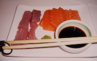 tuna and salmon sashimi, fish from Steve Hatt