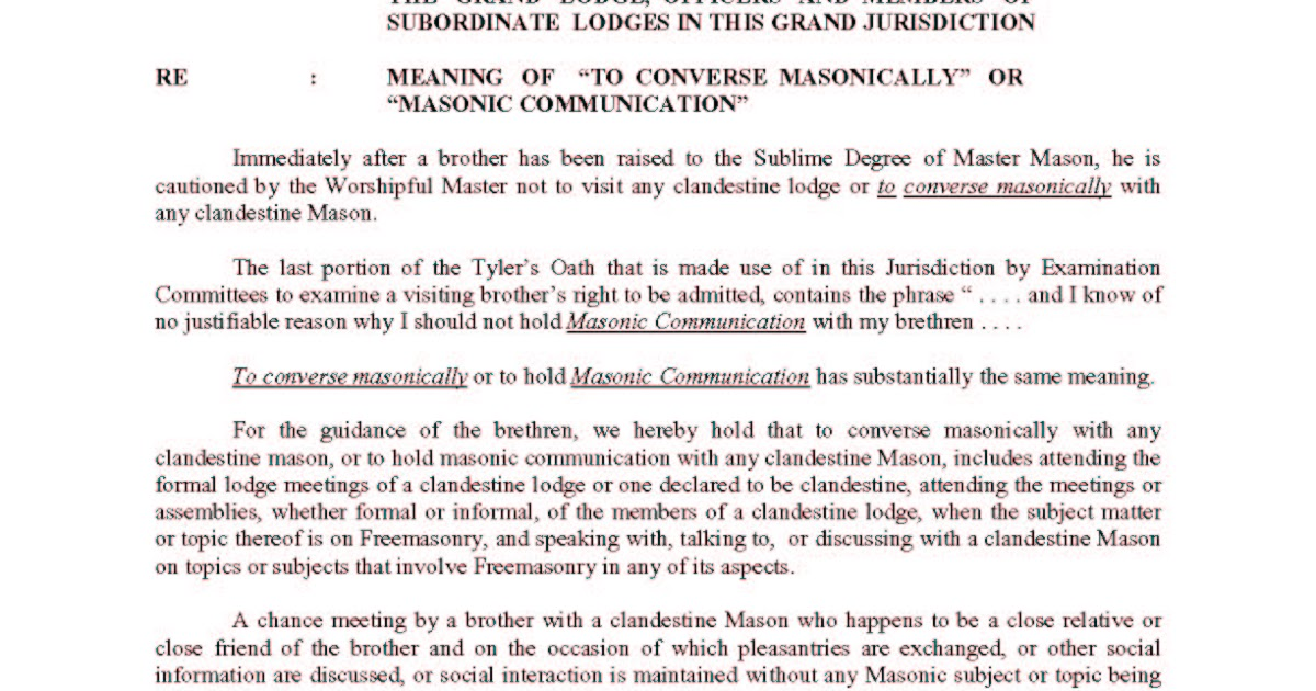 Recent events in philippine masonry to converse masonically or recent events in philippine masonry to converse masonically or masonic communication m4hsunfo