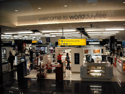 security at Terminal 5 is the fabulous, department store-sized duty free