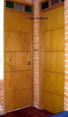 Casa ardeco puerta entamborada color miel 041 for Puerta entamborada
