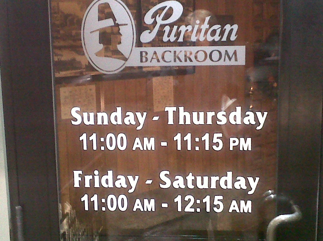The Puritan Backroom