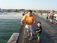 Alan and Jack on the Pier