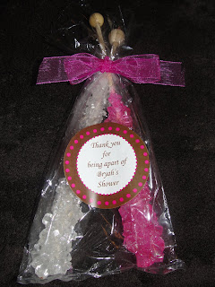 sugar bunch baby shower rock candy favors